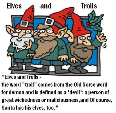 ELVES AND TROLLS DEFINED AS EVIL